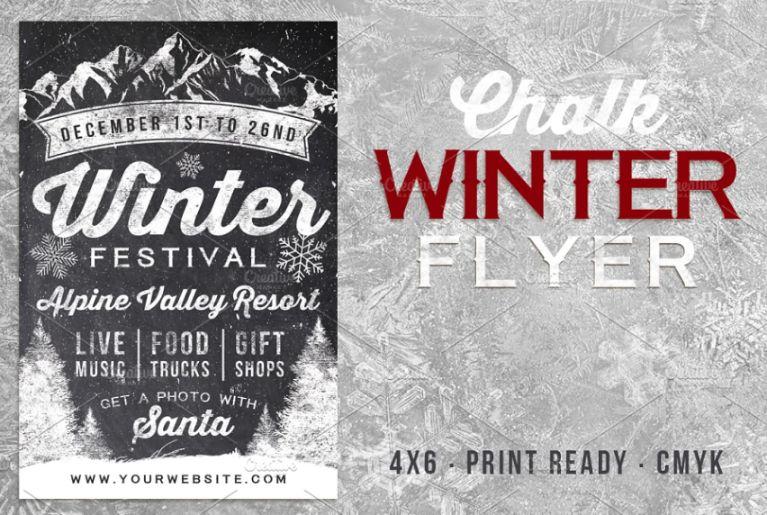 Chalk Styled Winter Flyers