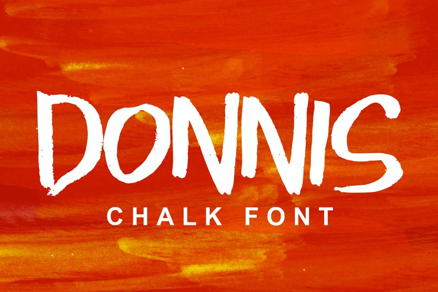 Chalk Textured Style Font