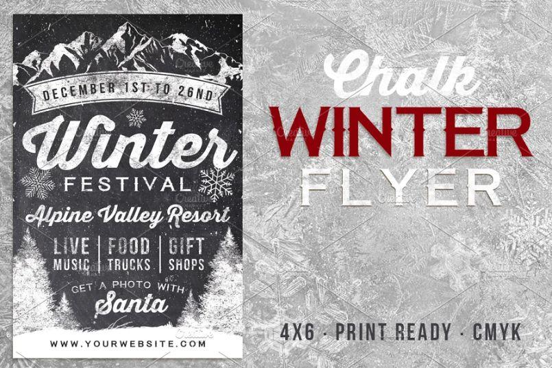 Chalk Winter Flyer Templates
