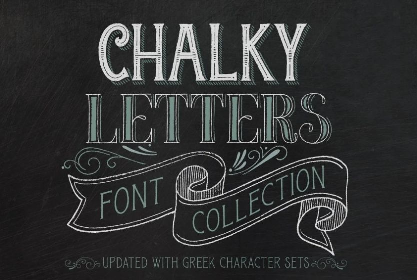 Chalky Letter Font Collection
