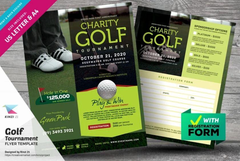 Charity Golf Flyer Design