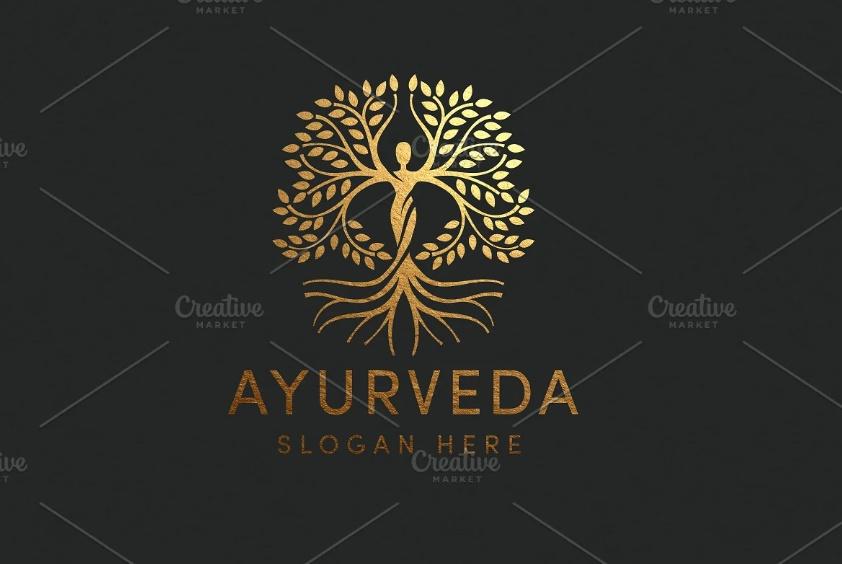 Circular Ayurveda Logo Template