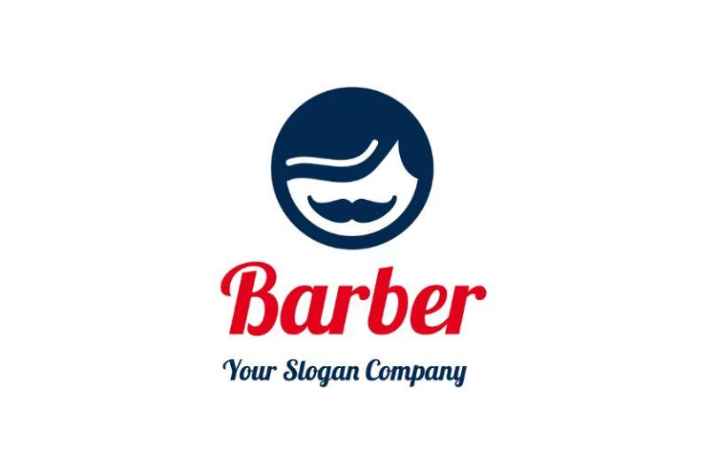 Circular Barber Logo Idea