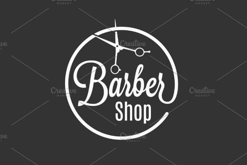 Circular Barber Logo Template