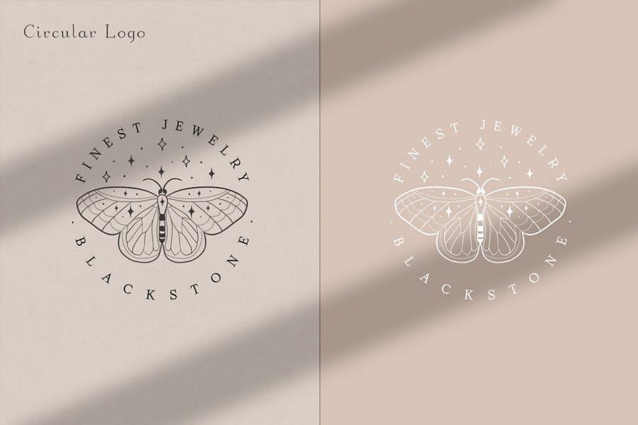 Circular Butterfly Logo Design Templates