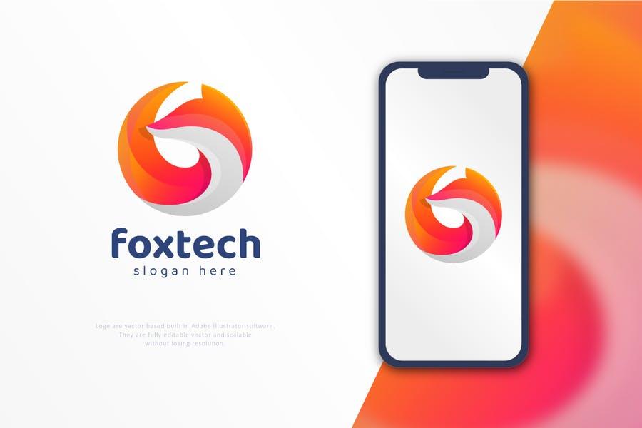 Circular Fox Logo Idea