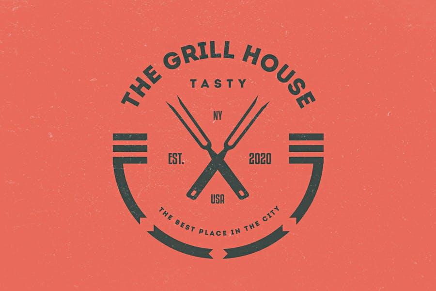Circular Restaurant Logo Designs
