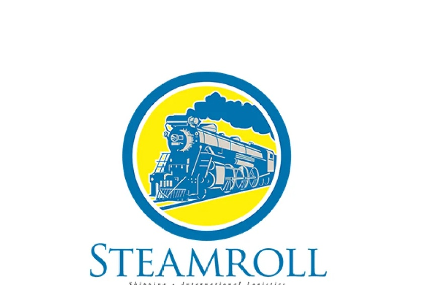 Circular Train Logo Illustration