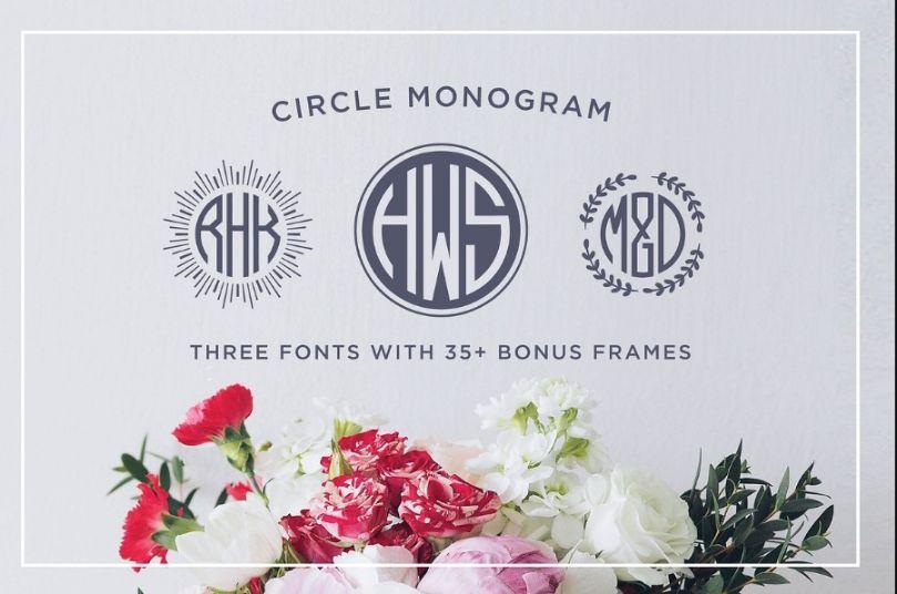 Cirdular Monogram Fonts