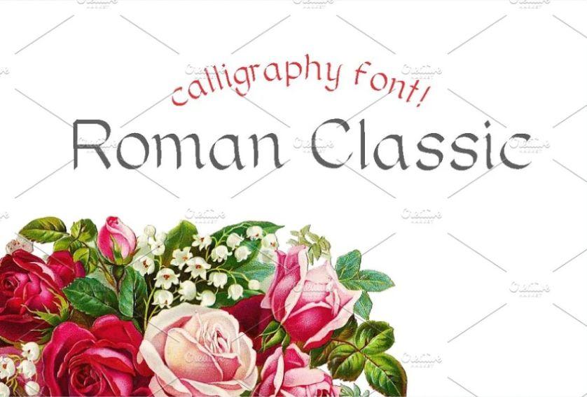 Classic Roman Calligraphy Typeface