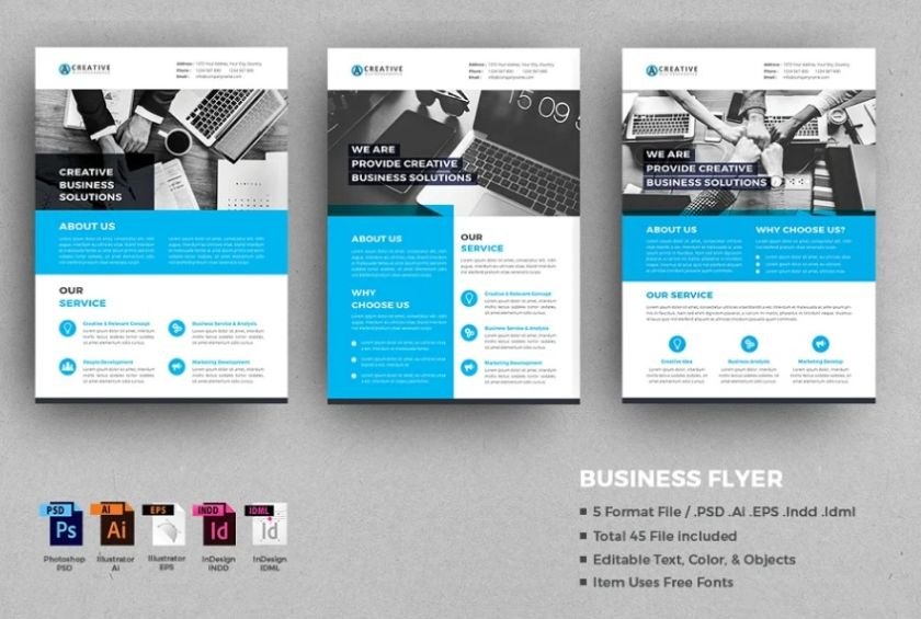 Clean Advertising Corporate Flyer