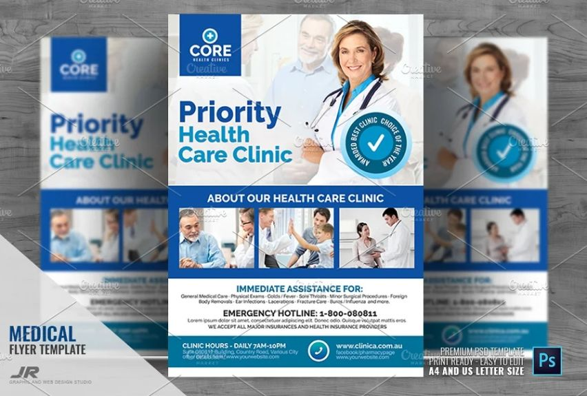 Clean Health Care Ad Flyer