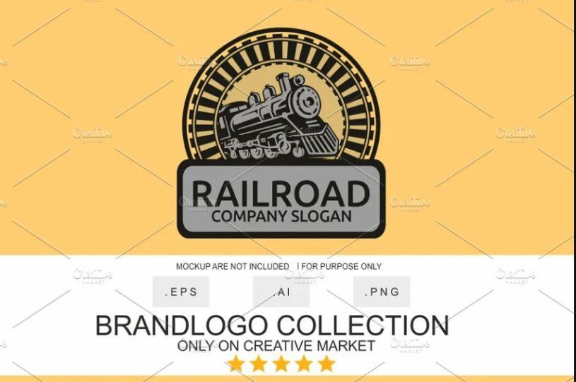 Clean Locomotive Logo Design