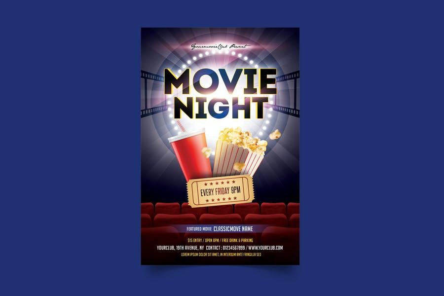 Clean Movie Night Flyer