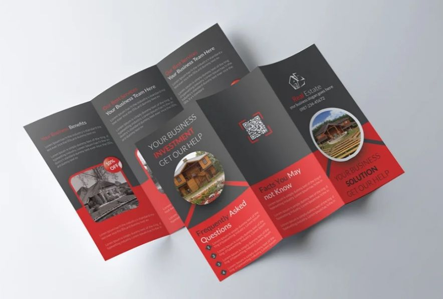 Clean Tri Fold Brochure Template