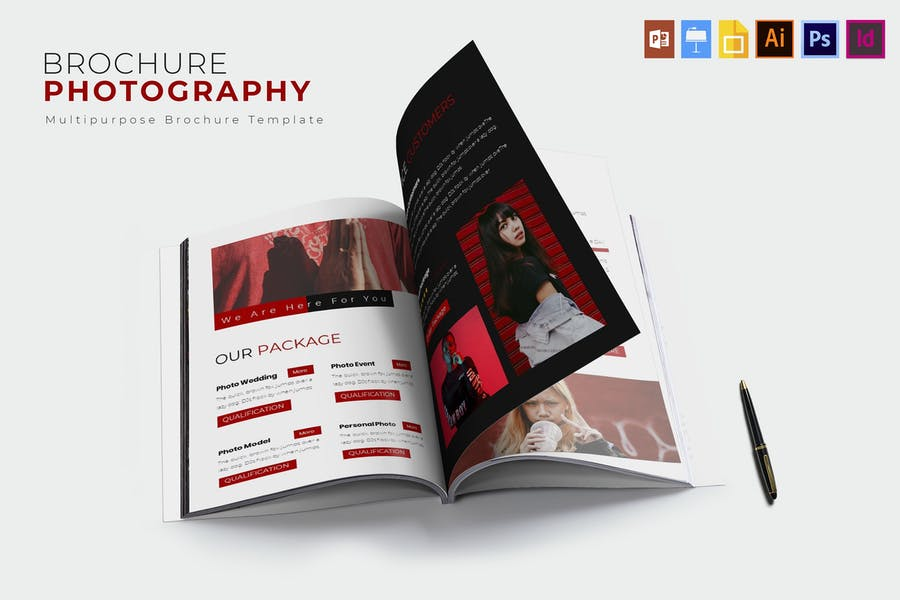 Clean and Modern Photography Brochures