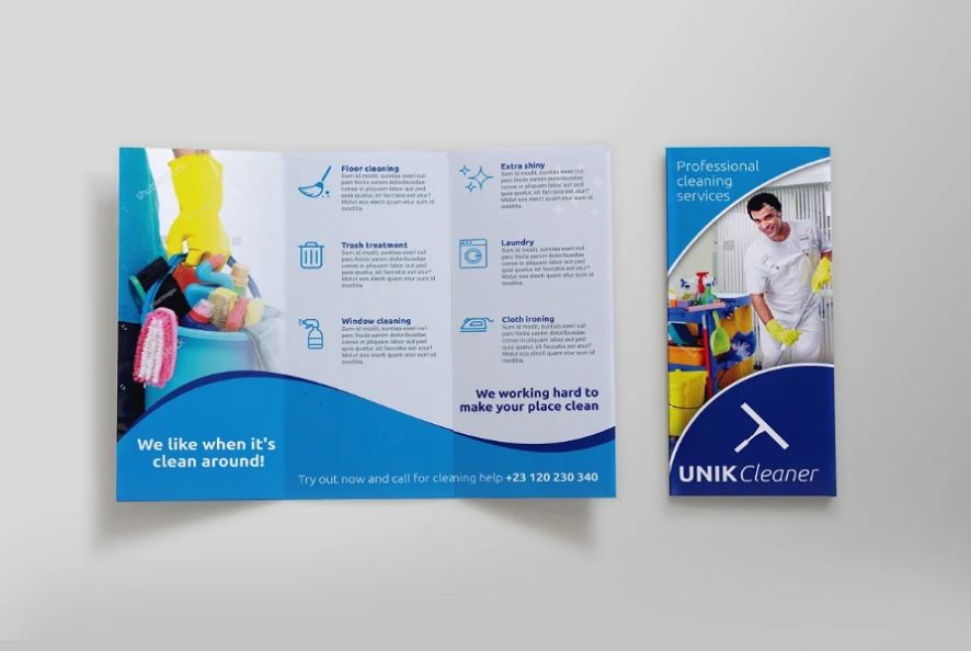 Cleaning Services Brochure Templates
