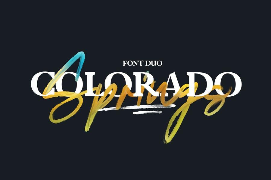 Colorado Springs Duo Fonts