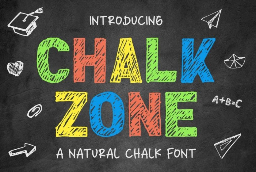 Colorful Chalkboard Typeface