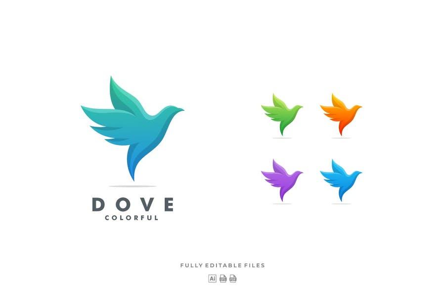 Colorful Dove Branding Identity