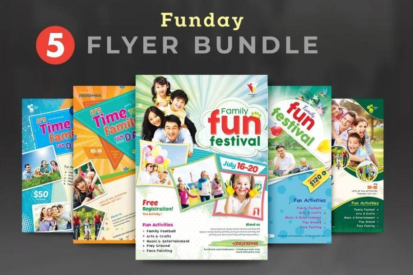 Community Fun Day Flyer Bundle