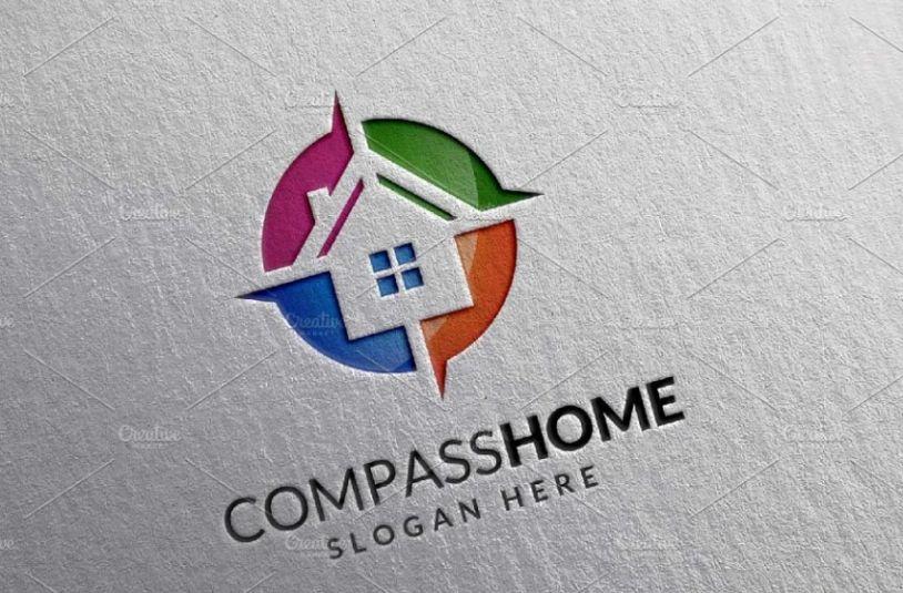 Compass Logo for Apartment Building