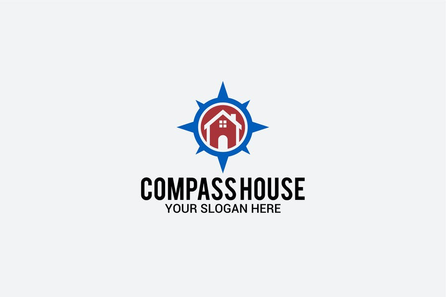 Compass Logo for Real Estate Business