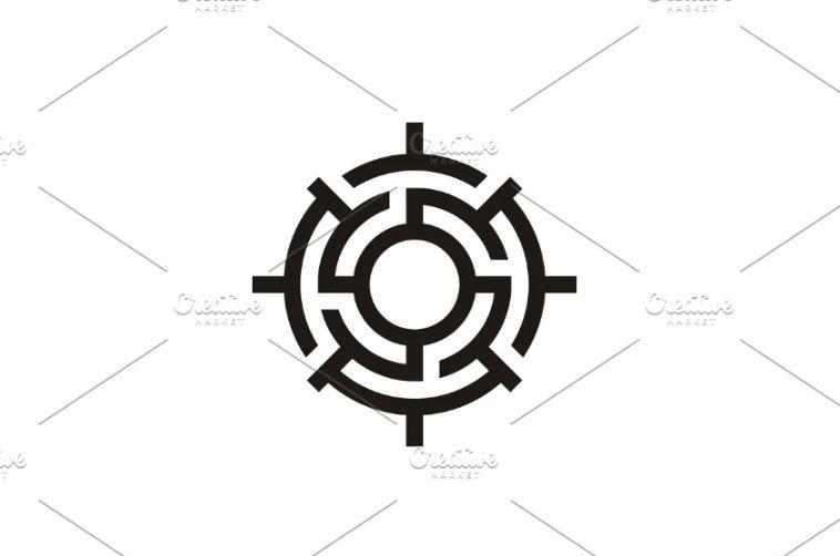 Compass Style Maze Logo