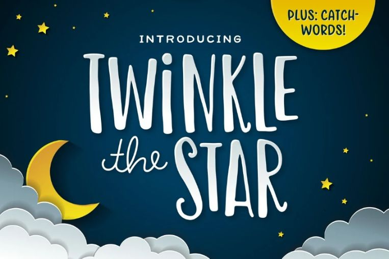 Condenced Twinkle Star Typeface