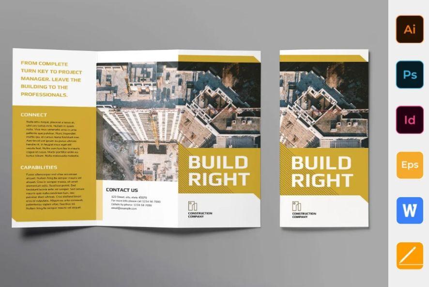 Construction Industry Brochure Template