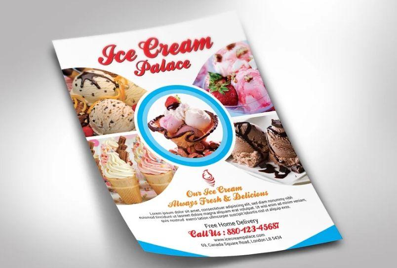 Corporate Ice Cream Ad Flyers