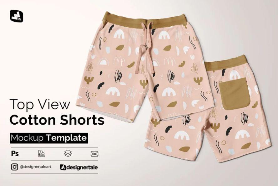Cotton Shorts Design Mockup