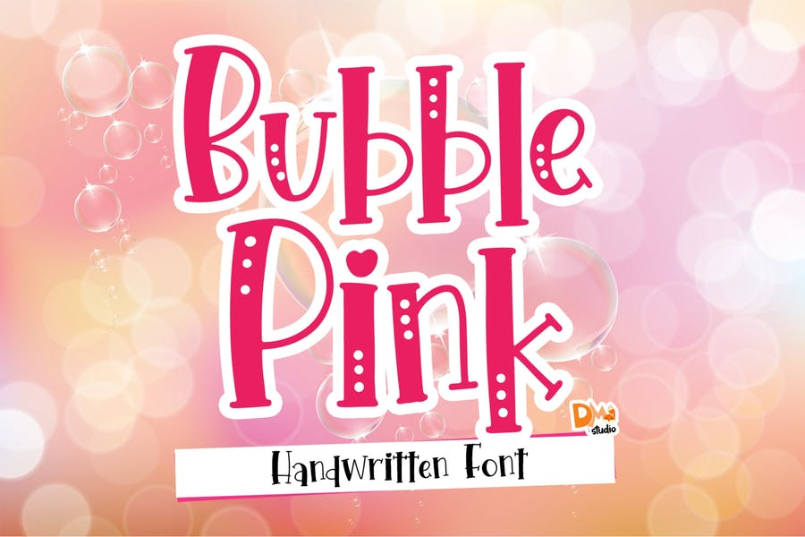 Crafty Bubble Pink Font