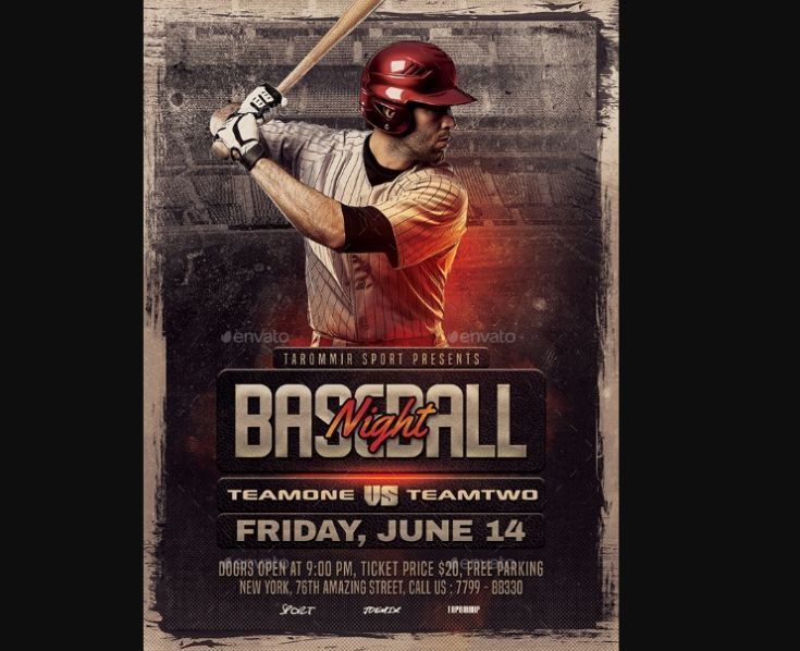 Creative Baseball Night Flyer