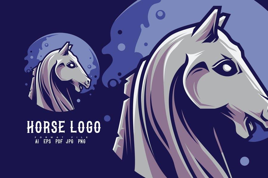 Creative Horse Mascot Logo