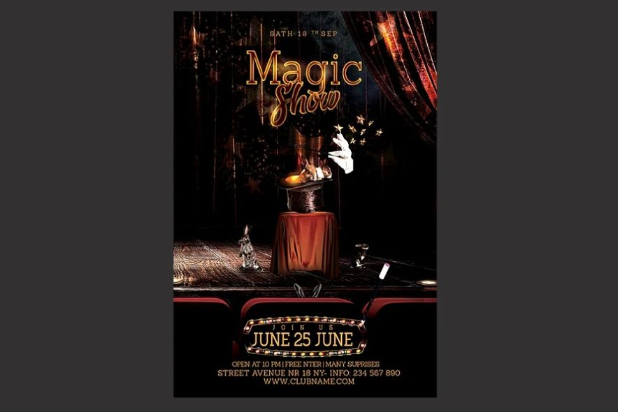 Creative Magic Show PSD Flyer