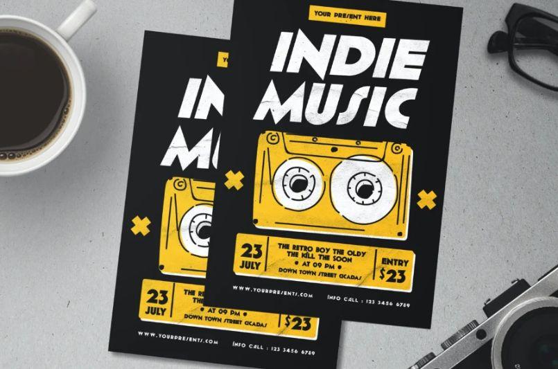 Creative Indie Music Flyer