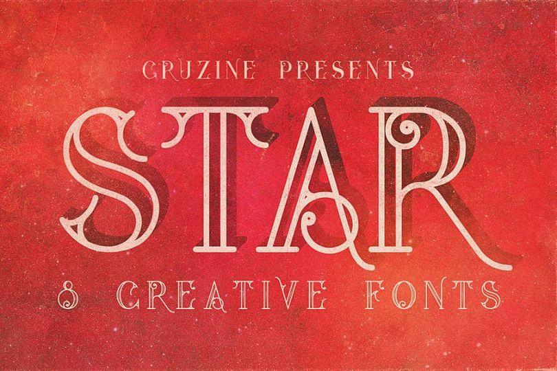 Creative Star Grunge Fonts