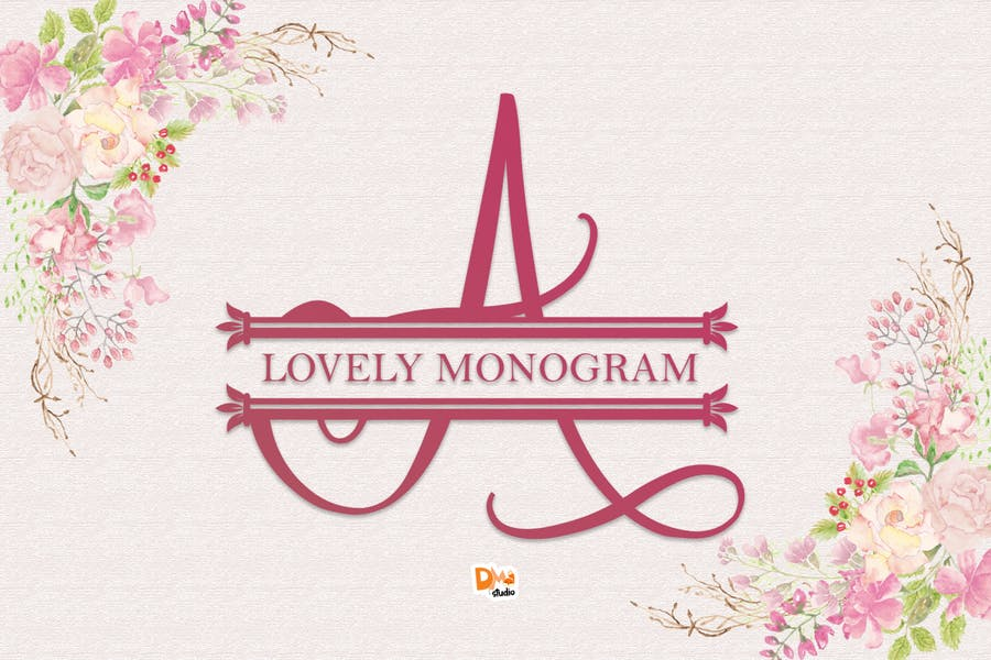 Cursive monogram Typeface