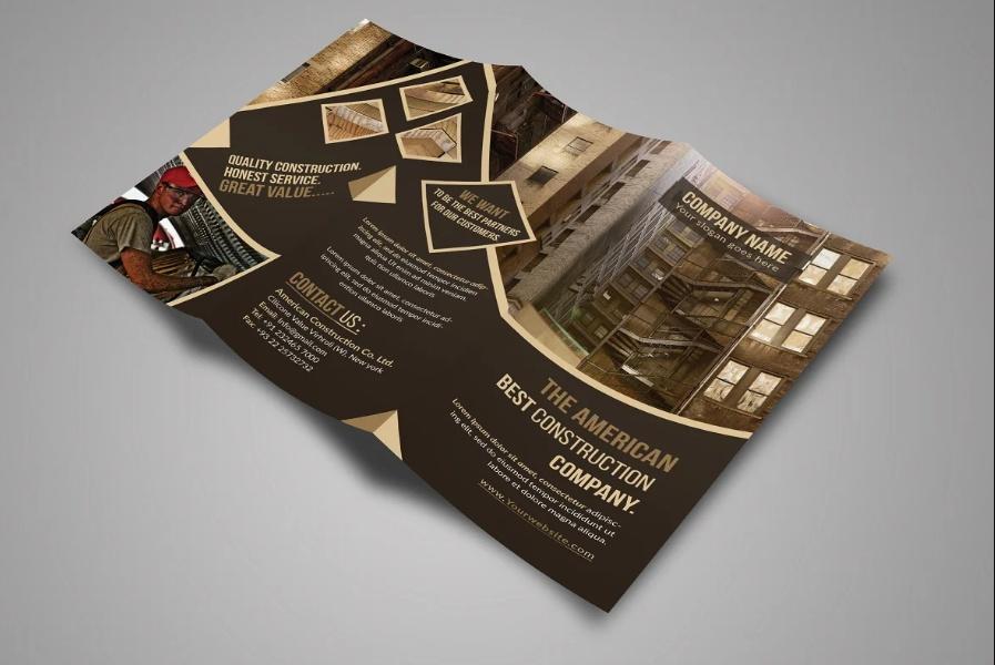 Customizable Construction Brochure Template