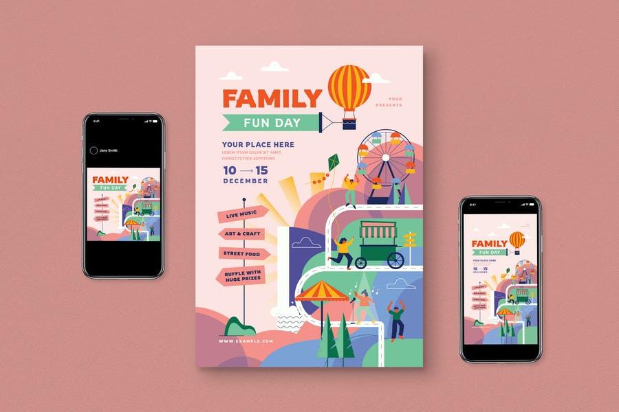 Customizable Family Fun Flyer Pack