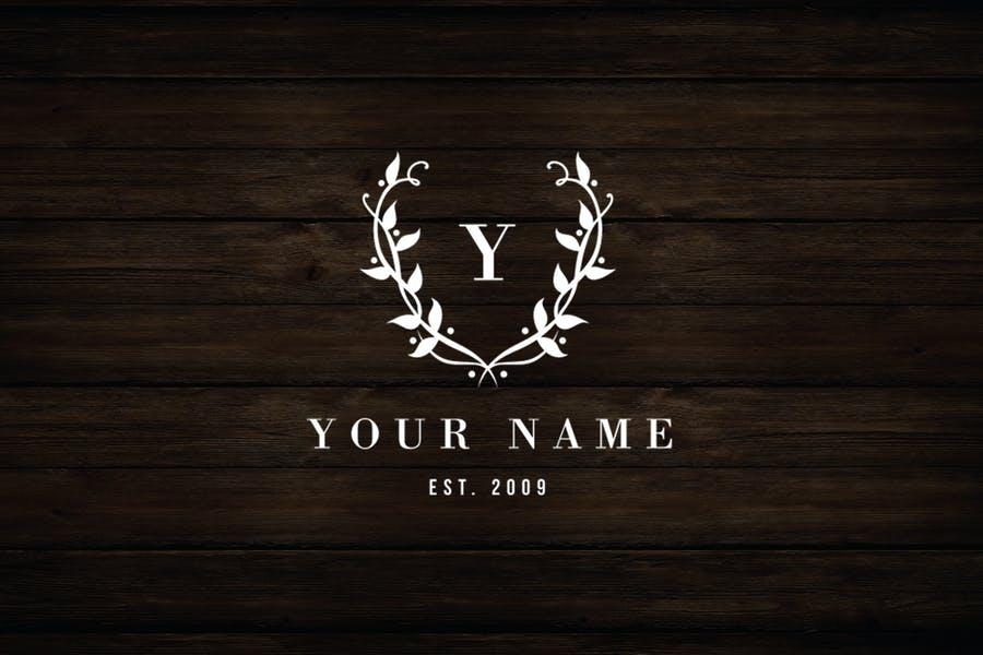 Customizable Floral Logo Design