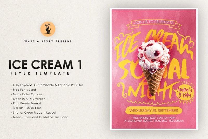 Customizable Ice Cream Shop Flyer