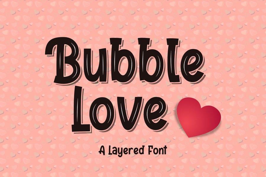 Cute Bubble Love Typeface