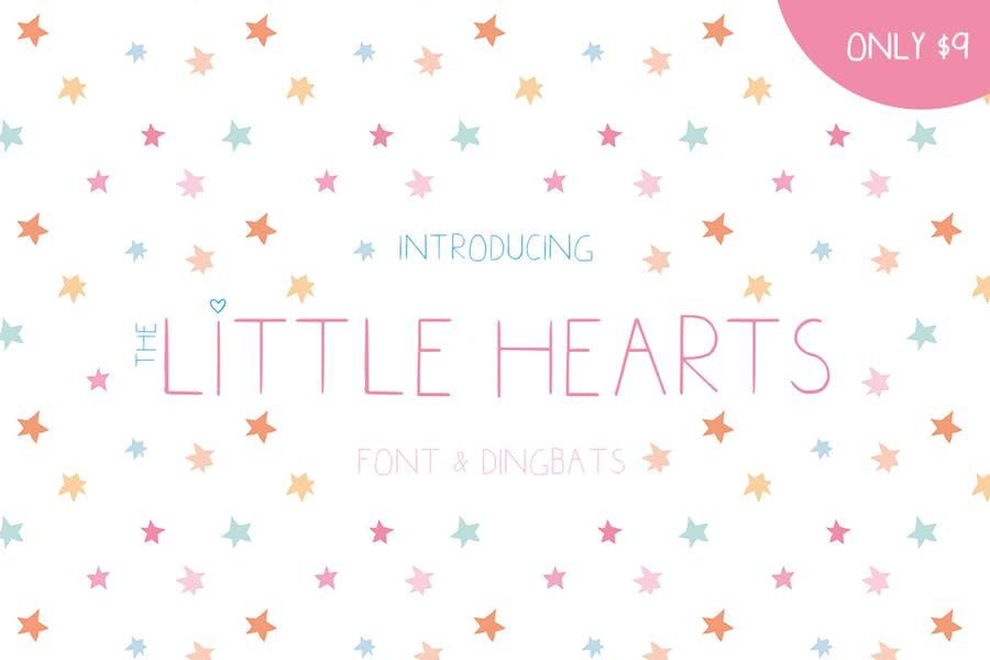 Cute Little Hearts Font