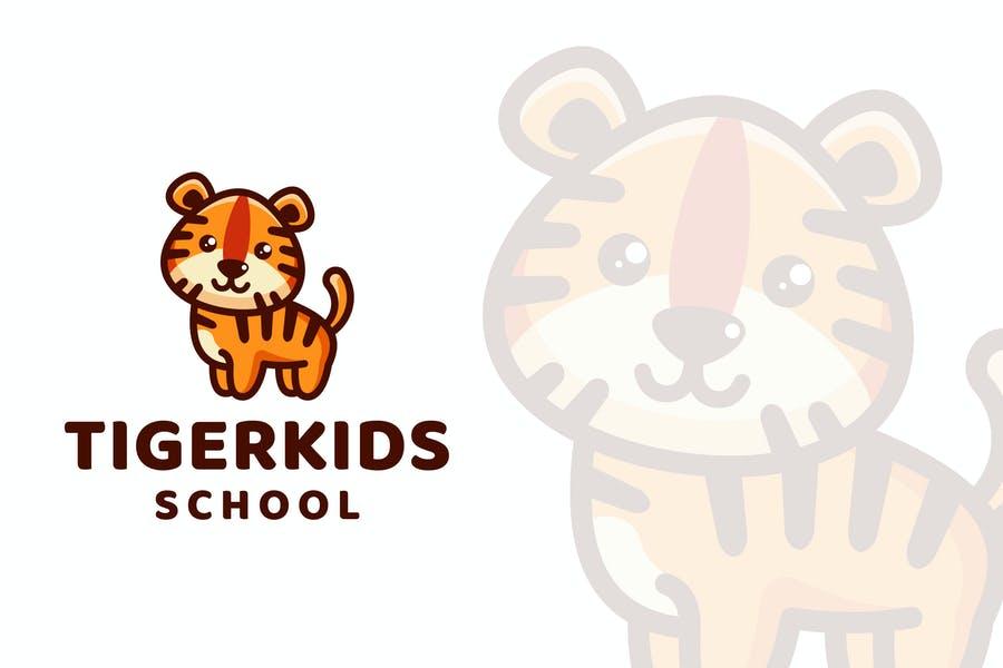 Cute School Logo Design Template