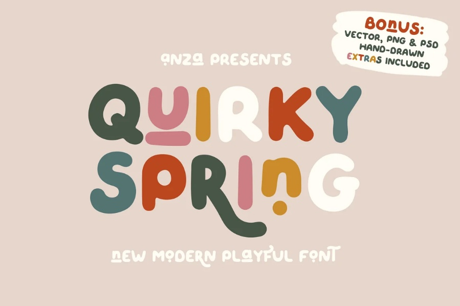 Cute and Playful Spring Typeface
