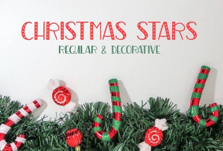 Decorative Christmas Star fonts