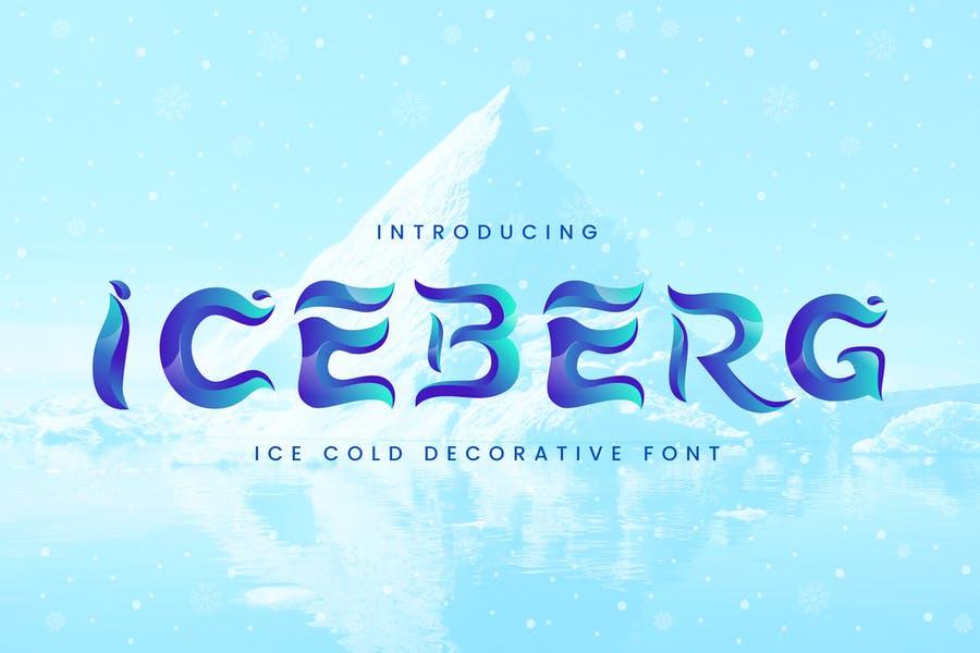 Decorative Ice Fonts