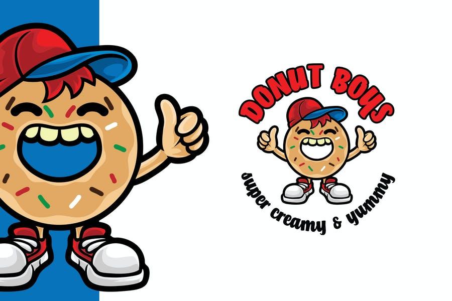 Donut Boy Logo Design